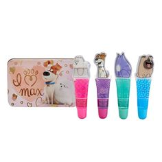 Girls 4-16 DreamWorks The Secret Life of Pets 4-pk. Lip Gloss & Tin Set, Multicolor