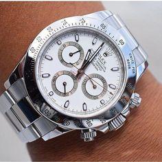 The perfect summer watch. Rolex Daytona Ref. 116520 shot by Fine Watches, Men's Watches, Fashion Watches, Cool Watches, Audemars Piguet, Rolex Daytona 116520, Patek Philippe, Omega, Used Rolex