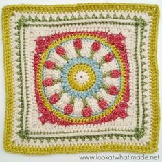 "Wishing Well 12"" Crochet Square {Block 14 of the Moogly CAL 2016}:http://www.lookatwhatimade.net/crafts/yarn/crochet/free-crochet-patterns/wishing-well-12-crochet-square/"