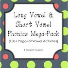This Mega Pack combines my Long Vowel A, E, I, O, U Packet and my Short Vowel A, E, I, O, U Packet in one great deal.  You get over 130 pages of ph...