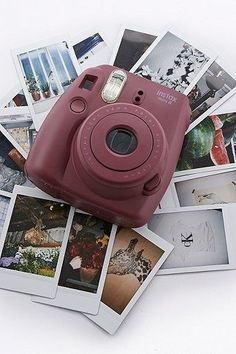 Fujifilm X UO Custom Colour Burgundy Instax Mini 8 Camera - Instax Camera - ideas of Instax Camera. Trending Instax Camera for sales. - Fujifilm X UO Custom Colour Burgundy Instax Mini 8 Camera Fujifilm Instax Mini, Instax Mini 8 Camera, Polaroid Instax, Polaroid Camera Fujifilm, Photography Camera, Photography Tips, Yellow Photography, Photography Aesthetic, Professional Photography