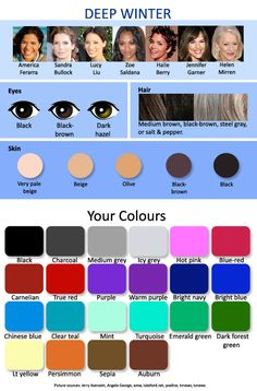 My colors...it's pretty cool because I always usually only wear these colors before I even knew about this color chart...