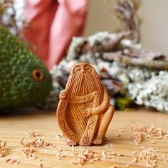 Most People Throw Away Avocado Pits, But This Artist Carves Them Into Magical Forest Creatures