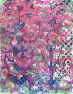 """Bursting into Bloom"" original acrylic monotype by Sharon Giles Bloom, The Originals, Abstract, Artwork, Prints, Summary, Work Of Art, Auguste Rodin Artwork, Artworks"
