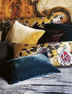 via Moon to Moon - Silk velvet cushions from Toast