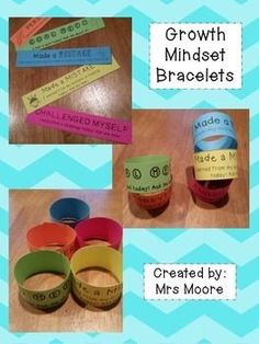 These are Growth Mindset Bracelets that I plan to use to award my students who are showing a growth mindset.