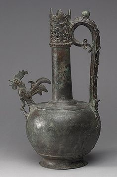 Ewer, 8th–early 9th century Probably Syria Bronze, cast, engraved, and pierced; H. 15 1/2 in. (39.4 cm) Samuel D. Lee Fund, 1941 (41.65)