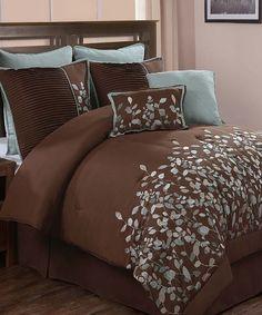 Chocolate Jardin Comforter Set