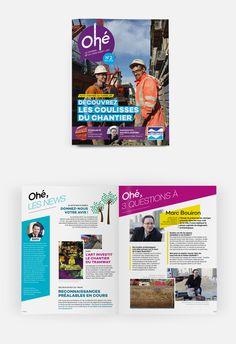 L'édition n°2 (février 2015) de Ohé, le magazine des Niçois sur les travaux de la ligne 2 du Tram. #OPS2