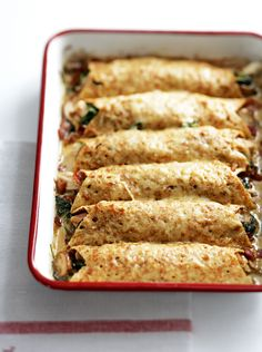 Use leftover roast chicken to make this speedy savoury pancake recipe.