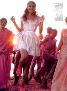 Vogue US || May 2009 // Model: Lakshmi Menon // Photographer: Mikael Jansson.
