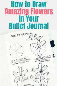 Flower Drawing How to draw flower doodles bullet journals should have! These pretty and easy plant doodles will help you decorate your bujo. Learn how to draw flower doodles, flower doodle borders, and how to add details to your floral designs. Bullet Journal Spreads, Bullet Journal Ideas Pages, Bullet Journal Layout, Bullet Journal Inspiration, Bullet Journals, Art Journals, Easy Flower Drawings, Flower Drawing Tutorials, Easy Drawings