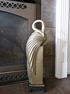 Art Deco Swan Sculpture 23 Cuff Swan ll Austin Products by DsTrove