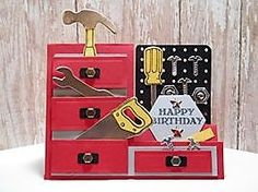 Peanuts and Peppers Papercrafting: Try It Thursday - Stampin' Up! Nailed It Tool Box Birthday Card