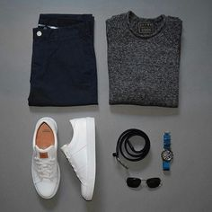 Men Casual T-Shirt Outfit 🖤 Very Attractive Casual Outfit Grid, Casual Wear, Casual Outfits, Men Casual, Fashion Outfits, Fashion Tips, Fashion Trends, Mode Masculine, Mode Man, Herren Outfit