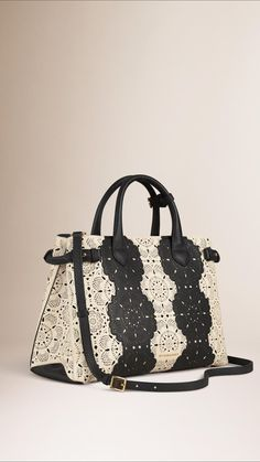0881077acdc The Medium Banner in Lace Leather   Burberry Womens Tote Bags, Burberry  Tote Bag,
