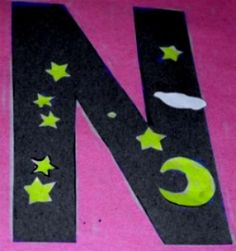 Alphabet Letter N is for Night.      Alphabet Letter N is for Night!  For this Alphabet craft, kids