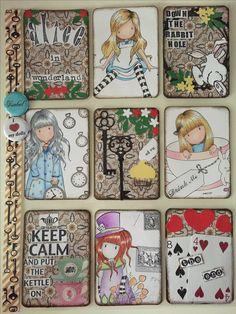 Pocket Letter, Alice In Wonderland, Gorjuss Girls