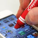iCrayon Touch Stylus for Mobile Devices - Red on iwantoneofthose.com