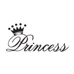 """Princess Wall Sticker 12"""" x 4"""""""