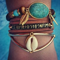 pulso cheio de pulseira estilo boho verão 2016, Beth Souza Acessórios BS acessórios, Pulseiras estilo sereia, tendência sereia