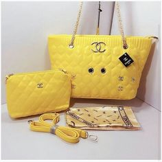 75b53a9e5d1a Yellow CHANEL High Quality 2 in 1 Bags For Women. Bvlgari Handbags