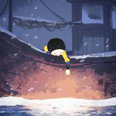 The Storm Whale In Winter - Benji Davies Beautiful Sketches, Children's Book Illustration, Book Illustrations, Hand Art, Cartoon Design, Visual Development, Art For Kids, Concept Art, Art Drawings