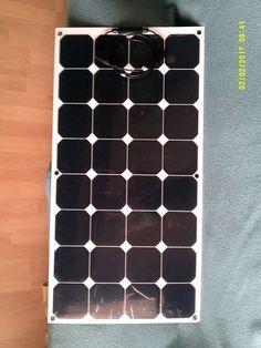 Elastyczny Panel Słoneczny 100W, 18V. Na białym tle. | eBay
