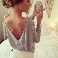Decote costas + colar