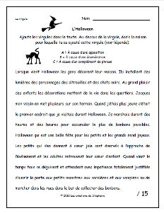 Les créations de Stéphanie: La virgule (Halloween) Halloween 2019, Holidays Halloween, French Classroom, French Immersion, Halloween Activities, Learn French, Middle School, Writing, Grade 3