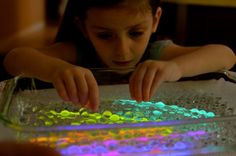 water beads + glow sticks     #kids #parenting #waterPlay #playIdeas #ece