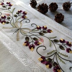 185 Likes, 6 Comments - Elisi_ Russian Embroidery, Embroidery Sampler, Brazilian Embroidery, Ribbon Embroidery, Floral Embroidery, Embroidery Patterns, Dress Design Sketches, All Friends, Bargello