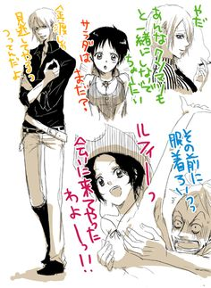I like genderbent Nami! The others not so much, although a female Ruffy would probably be hilarious to watch ^^ One Piece Manga, One Piece Drawing, Zoro One Piece, One Piece Comic, One Piece Fanart, Ace Sabo Luffy, Luffy X Nami, Film Manga, Manga Anime