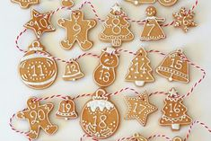 This spiced iced cookie calendar is one of our favorite food advent calendars this year - so pretty!   Butter Hearts Sugar