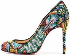 Intricate Imaginative Stilettos The Christian Louboutin Spring 2012 Collection is Mind-Blowing by christa Stilettos, Stiletto Heels, High Heels, Talons Sexy, Beaded Shoes, Beaded Jewelry, Shoe Boots, Shoe Bag, Kitenge