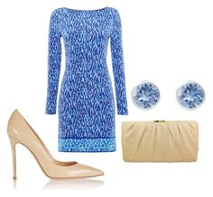 Got the Blues by brittani-hall on Polyvore featuring Michael Kors, Gianvito Rossi, Nina and Swarovski