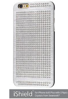 iShield® 6 Plus Light mit*576*Stück Crystals from Swarovski® Luxus Hülle /Schale / Schutzhülle für iPhone 6,6S Plus aus gebürstetem Aluminium mit Swarovski Elementen , Marke und Model: iShield® 6 Plus Light Hülle Silber Luxus: Amazon.de: Elektronik
