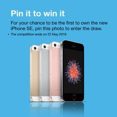 PIn, like and follow our page for your chance to win an iPhone SE