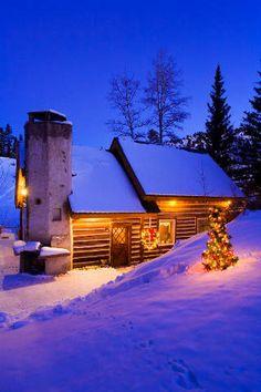 Weihnachten,, Granby, Ende, Kamin, Schornstein