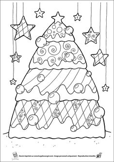 Coloriage sapin sur Hugolescargot.com - Hugolescargot.com                                                                                                                                                                                 Mais