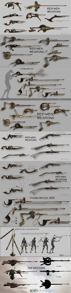 The Weapons of John Carter of Mars - artwork by Seth Engstrom - Imgur
