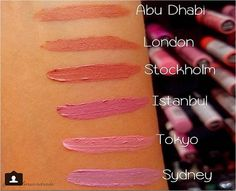 Swatches dos Soft Matte Lip Cream feitos pela @thaislinsandrade no quiosque da NYX do Parque Shopping Maceió