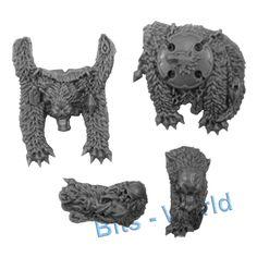 Warhammer Bits Space Wolves Venerable Dreadnought - Wolf Pelts for sale online Warhammer 40k Bits, Warhammer 40k Space Wolves, Game Bit, Wolf, Lion Sculpture, Miniatures, Statue, Tabletop, Hobbies