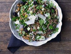 Whole Wheat Couscous with Cherries & Arugula salad