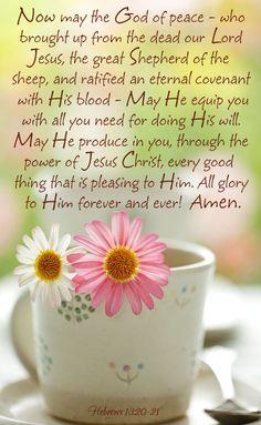 Hebrews 13:20-21