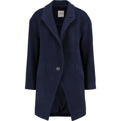 Mason by Michelle Mason Oversized wool-blend coat (2,665 CNY) ❤ liked on Polyvore featuring outerwear, coats, navy, oversized coat, navy blue coat, blue coat, navy coat and petite coats
