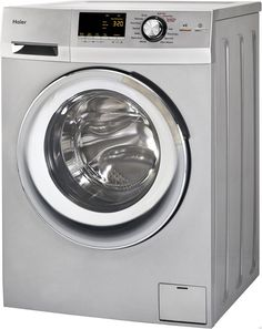 #Haier 24-#Inch Wide Front #Load #Washer And #Dryer #Combination, #Silver | HLC1700AXS
