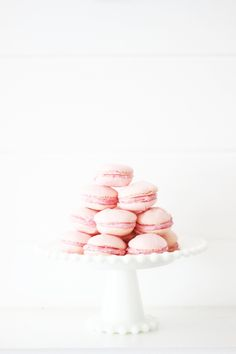 Easy macaroons with a raspberry cream cheese filling.