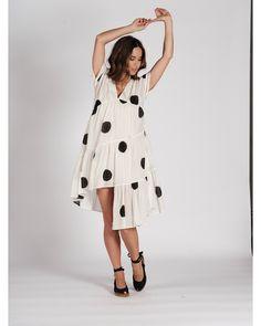 ROBE MONT VENTOUX N°6 NOIR/ECRU Blouse, Midi Skirt, Skirts, Fashion, Dress, Mantle, Jacket, Moda, Skirt