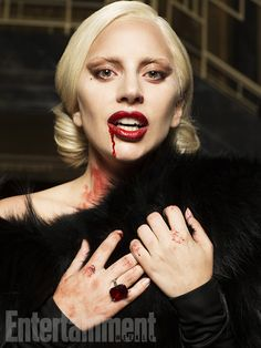 Lady Gaga, AHS Hotel. For Entertainment Weekly. Follow rickysturn/amazing-women